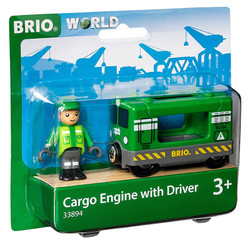 BRIO World 33894 Cargo Engine with Driver for Wooden Train Set