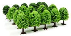 GAUGEMASTER Bulk Pack Trees - Deciduous (25) OO Gauge Scenics GM120