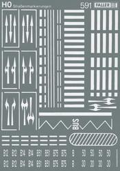 FALLER Street Marking Transfer Sheet IV HO Gauge 180536