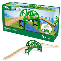 BRIO World 33885 Stackable Bridge for Wooden Train Set