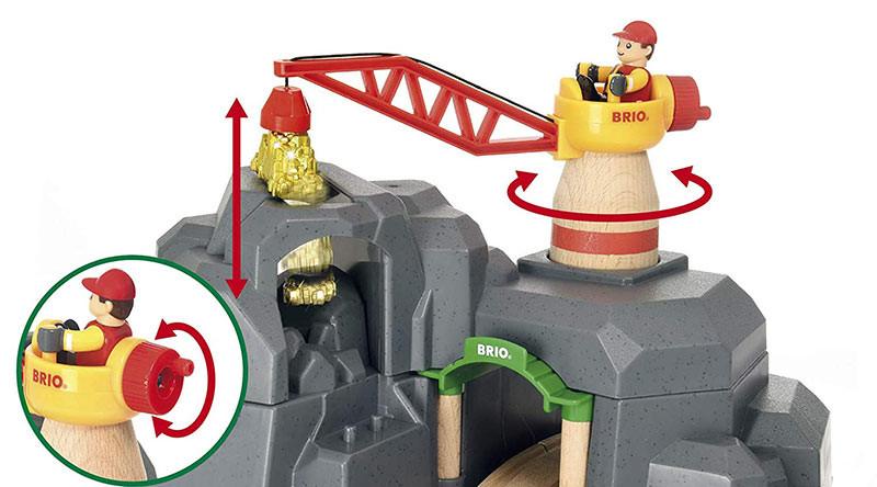 Brio World 33889 Crane And Mountain Tunnel For Wooden Train Set