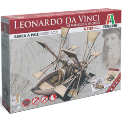 ITALERI Paddle Boat - Marvellous Machines 3103 Leonardo Da Vinci Model Kit