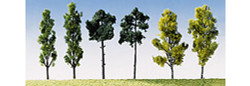 FALLER Assorted Trees 60mm (6) HO Gauge Scenics 181488