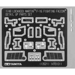 TAMIYA 12621 F-16 Detail UP Parts Set 1:48 Aircraft Model Kit