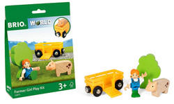 BRIO World 33875 Farm Play Kit for Wooden Train Set