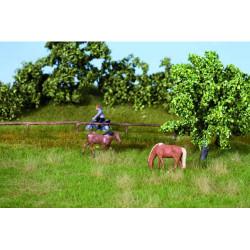 NOCH Summer Meadow Natur+ Mat 22x20cm w/ Grass Tufts (10) HO Gauge Scenics 07403