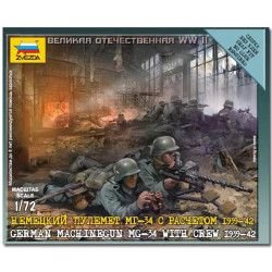 ZVEZDA 6106 German Machine Gun Crew East Front Snap Fit Model Kit 1:72