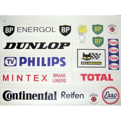 SLOT TRACK SCENICS CLA Classic Sponsor Logos Pack A - for Scalextric