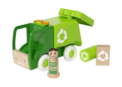 BRIO 30278 My Home Town - Garbage Truck for Wooden Train Set