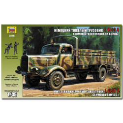 ZVEZDA 3596 German Heavy 4.5t Truck Merc 4500s Model Kit 1:35