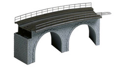 FALLER Top Section of Curved Stone Viaduct Model Kit I HO Gauge 120478