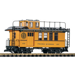 PIKO D&RGW Wood Drovers Caboose 215 w/ Lit Markers G Gauge 38602