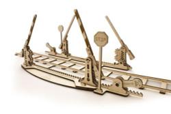 UGEARS Rail Crossing - Mechanical Wooden Model Kit 70014