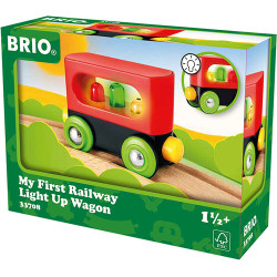 BRIO 33708 My First Railway - Light Up Wagon for Wooden Train Set