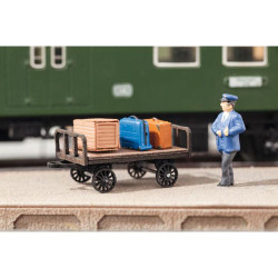 NOCH Luggage Carts (2) Laser Cut Minis Kit HO Gauge Scenics 14311