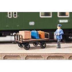 NOCH Luggage Carts (2) Laser Cut Minis Kit HO Gauge Scenics 14311