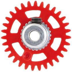 NSR 3/32 AW Soft Plastic Gear 31t Red w/Alm Hub Dia. 16mm NSR6631