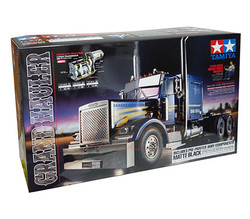 TAMIYA RC 56356 Grand Hauler Matt Black 1:16 Truck Assembly Kit