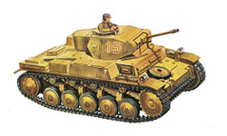 ITALERI Pzkpfw.Ii Ausf F 7059 1:72 Military Vehicle Model Kit