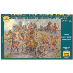 ZVEZDA 8027 Medieval Field Powder Artly 06 Model Kit 1:72