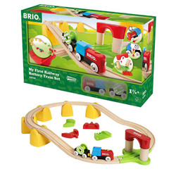 BRIO 33710 My First Railway Battery Operated Train Set - Wooden Train Set