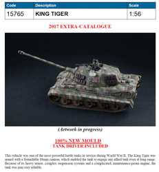 ITALERI WOT 'King Tiger' 15765 1:56 Tank Model Kit
