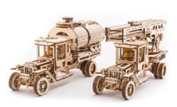 UGEARS Tanker, Ladder and Trailer additions for Truck Mechanical Model Kit 70018