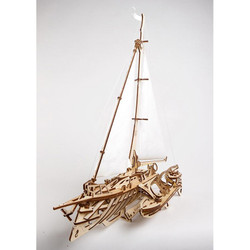 UGEARS Trimaran Merihobus - Mechanical Wooden Model Kit 70059