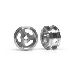 SLOT.IT Al 15.8x8.2x1.5mm Wheels M2 Grub Dbl Shoulder Holed 1g x2 SIW15808215AH