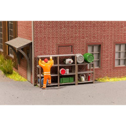 NOCH Industrial Shelves (6) Laser Cut Minis Kit HO Gauge Scenics 14203