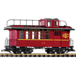 PIKO C&S Wood Drovers Caboose 99 w/Lit Markers G Gauge 38646