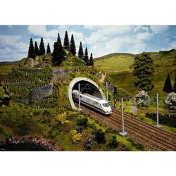 NOCH Double Track ICE Tunnel Portal HO Gauge Scenics 58040