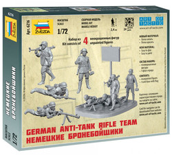 Zvezda 6216 German WWII Anti Tank Team 1:72 Figures Model Kit