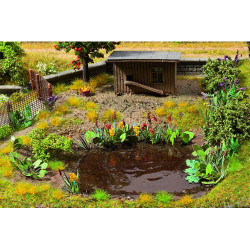 NOCH Waterside and Riverside Plants Laser Cut Mini+ (17) HO Gauge Scenics 14052