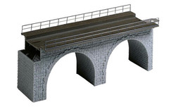 FALLER Top Section of Straight Stone Viaduct Model Kit I HO Gauge 120477