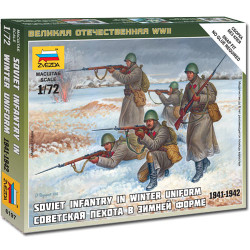 ZVEZDA 6197 Soviet Infantry winter Uniform 1:72 Military Model Kit