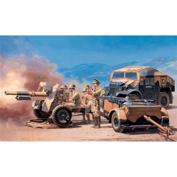 ITALERI Morris Quad W 25 Pdr Gun 7027 1:72 Military Vehicle Model Kit