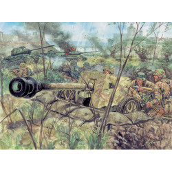 ITALERI WWII German Pak40 At Gunw/serv 6096 1:72 Figures Kit