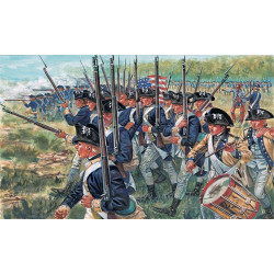 ITALERI American Infantry US Independance War 6060 1:72 Figures Kit