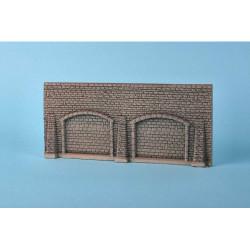 GAUGEMASTER Foam Walling - Grey Stone Wall & Arches OO Gauge Scenics GM32