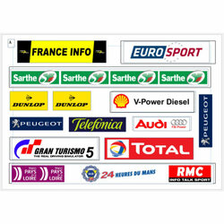 SLOT TRACK SCENICS LML-A Le Mans Logos pack A  - for Scalextric