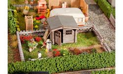 FALLER Allottment w/ Small Garden House Model Kit III HO Gauge 180492