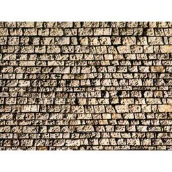 NOCH Cut Quarrystone Wall Card 64x15cm HO Gauge Scenics 57740