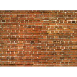 NOCH Red Brick Wall Card 32x15cm HO Gauge Scenics 57550