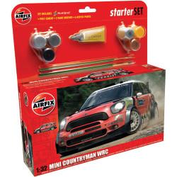 AIRFIX A55304 Mini Countryman WRC Starter Set 1:32 Car Model Kit