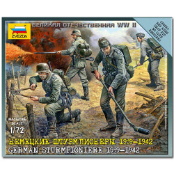 ZVEZDA 6110 German Sturmpioniere Snap Fit Model Kit Figures 1:72