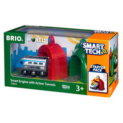 BRIO World 33834 Smart Tech - Smart Engine with Action Tunnels