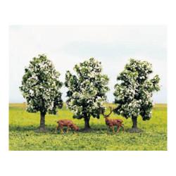 GAUGEMASTER Tree Set - Plum in Blossom (3) OO Gauge Scenics GM181