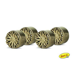 SLOT.IT Wheel Insert F1 BBS Type Gold for PA20 (4) SIPA13G