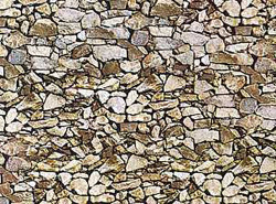 FALLER Natural Stone Wall Card 250x125mm HO Gauge 170610